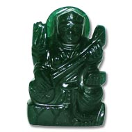 Saraswati in Green Jade -  113 gms