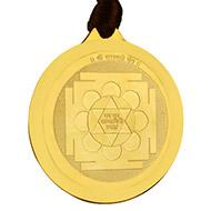 Saraswati Yantra Locket - Gold Plated