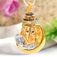 Shiva Locket in Pure Gold - 5.5 gms