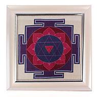Shiva Yantra on silk with frame