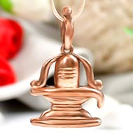 Shivling Locket in Panchdhatu