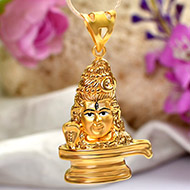 Shivling Locket in Pure Gold - 4.2 gms