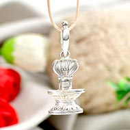Shivling Locket in pure silver - III