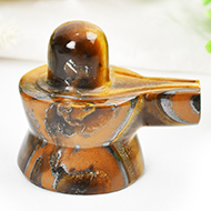 Shivlinga in Tiger Eye - 54 gms