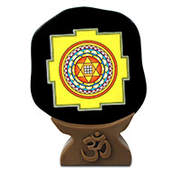 Shree Kuber Yantra on Black Jade