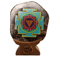 Shree Mahakali Yantra on Iolite