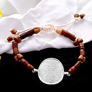 Shree Mahalakshmi Yantra in Silver Bracelet