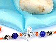 Shree Rakhi With Blue Agate beads