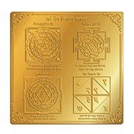 Shree Sarva Rog Nivaran Maha Yantra - Gold - 6 inches