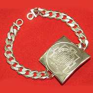 Shree yantra bracelet in silver - Heavy Design