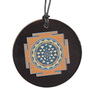 Shree Yantra locket on Rosewood