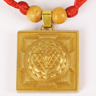 Shree Yantra Meru in Brass Locket
