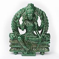 Shri Lalitha Devi in Green Jade - 2340 gms
