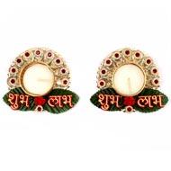 Subh Labh Designer Diyas ( Set of 2)