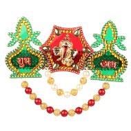 Shubh Labh Kalash with Ganesh acrylic set