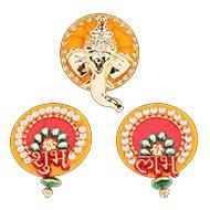 Shubh Labh with Ganesh acrylic set - II