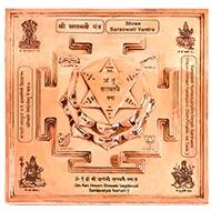 Siddh Meru Saraswati Yantra on Lotus