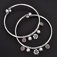 Silver Anklets - Set of 2 - Design - I