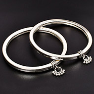 Silver Anklets - Set of 2 - Design - V