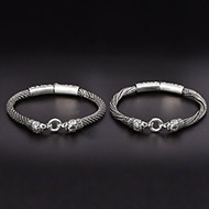 Silver Anklets - Set of 2 - Design - VI