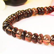 Smoky Necklace - Elliptical Beads