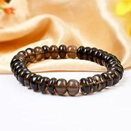 Smoky Quartz Bracelet  - Elliptical Beads