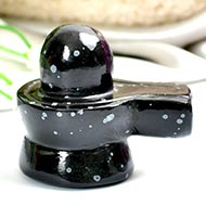 Snowflakes Obsidian Shivling - 64 gms