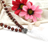 Sphatik and Red Sandal Beads Mala