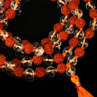 Sphatik  and  Rudraksha  mala  in  thread
