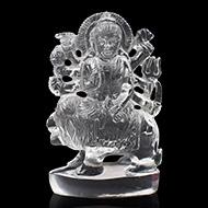Sphatik Crystal Durga Idol - 224 gms