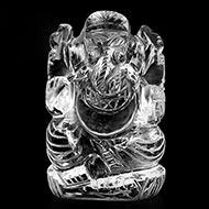 Sphatik Ganesha - 128 gms