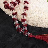 Sphatik Kantha in woolen spacers