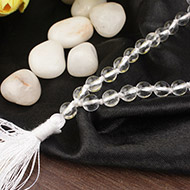 Sphatik mala in thread - Size I