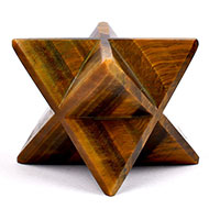 Star Pyramid in Tiger Eye - Luck and stability - 263 gms