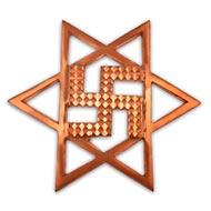 Star Swastika in Copper