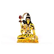 Studded Gold Lord Shiva