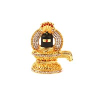 Studded Shivling in golden color