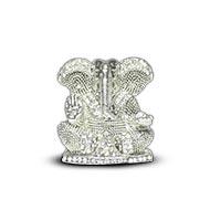 Studded Silver Lord Ganesha Idol