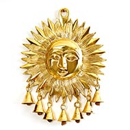 Surya Face in brass - I