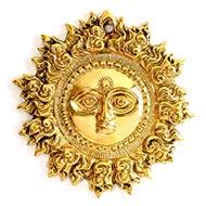 Surya Face in brass - II