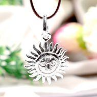 Surya Locket in Pure Silver - Design IX