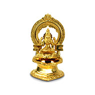 Surya oil lamp in Brass