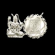 Mahamrityunjaya Shiva Yantra Locket - Silver - Design II