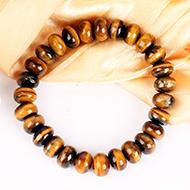 Tiger Eye Bracelet - Elliptical Beads