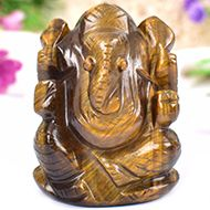 Tiger Eye Ganesha - 110 gms