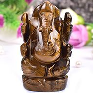 Tiger Eye Ganesha - 117 gms
