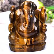 Tiger Eye Ganesha - 125 gms - Right Trunk