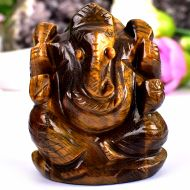 Tiger Eye Ganesha - 125 gms