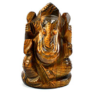 Tiger Eye Ganesha - 136 gms