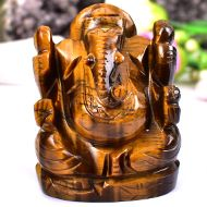 Tiger Eye Ganesha - 147 gms